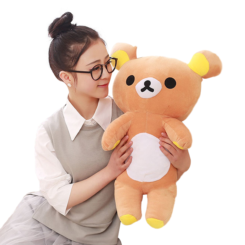 1pcs Hot Sale Gift 55cm Rilakkuma Relax Bear Stuffed Toys Cute Soft Pillow Plush Toy Doll Gift for Children super cute plush toy dog doll as a christmas gift for children s home decoration 20