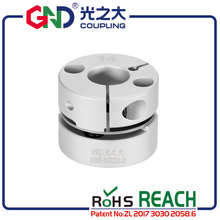 Coupling GND aluminum alloy CNC D28mm L21.5mm single diaphragm clamp for hollow encoder shaft coupling stepper motor connect