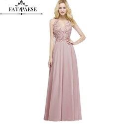 Sexy decote em v rendas apliques longo rosa vestidos de noite 2019 pérolas vestidos de festa sem costas vestido formal robe de soiree