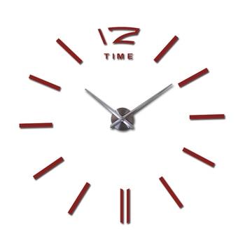 sale wall clock watch clocks 3d diy acrylic mirror stickers Living Room Quartz Needle Europe horloge free shipping 9