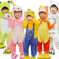 Girls Boys Pajamas Sets Unicorn Stitch Panda Cartoon Kigurumi Children Sleepwear Cosplay Animal Onesies For Kids