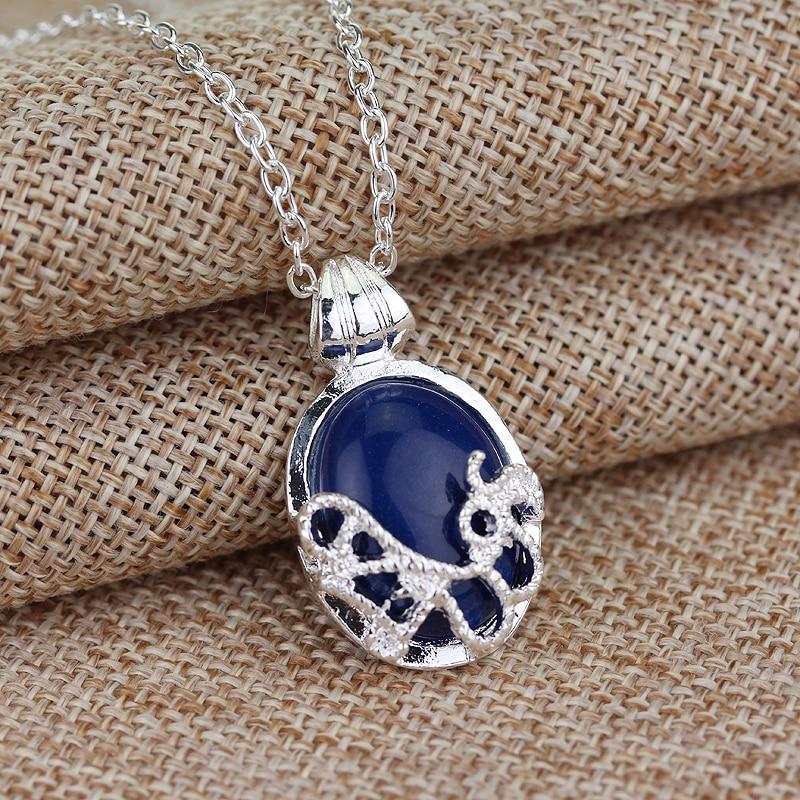 Popular filme charme vampiro diários katherine azul jóia cruz pingente colar filme jóias cosplay para mulheres presentes românticos