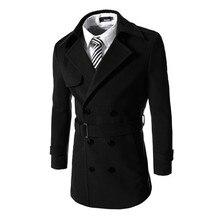 Мужчины Верхней Одежды Полушерстянная Куртки Двубортные Пальто Ветровка Зимняя Куртка Мужчины