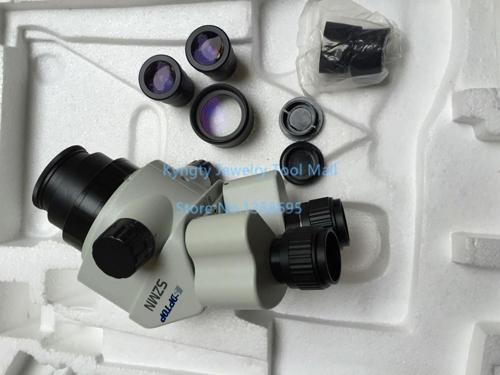 Outils de bijoux Super clairs 7X-45X Microscope stéréo à Zoom binoculaire XTL2600