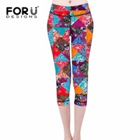 FORUDESIGNS 2017 Hot Sales 3D Triangle Patchwork Digital Print Slim Fit Women Leggings Ladies Plus Size Gothic Pants Leggings