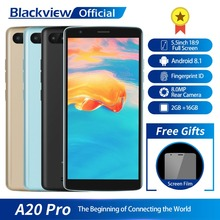 Blackview A20 Pro Smartphone 2 GB + 16 GB MT6739WAL Quad Core Android 8.1 5.5 inç 18:9 Tam Ekran Parmak Izi 4G Cep Telefonu