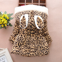Baby Girl Outerwear Coat Bebe Imitation Fur Leopard Grain Fashion Kids Jacket Longsleeve Hoodies Warm Clothes