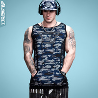 Aimpact 2017 New Sexy Longline Camouflage Mens Tank Tops Fashion Vivid Fitness Workout Tees Power Crossfit