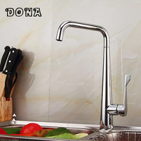 Brushed nickel kitchen faucet modern kitchen mixer tap stainless steel torneira DONA1149