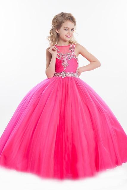 flower girl dresses pink princess - photo #48