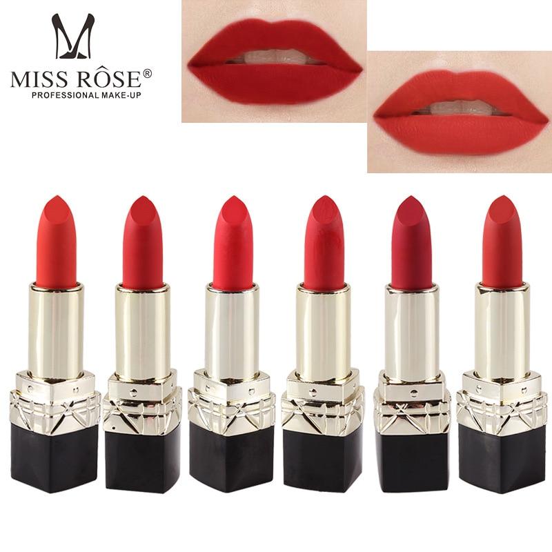 MISS ROSE matte matte lipstick black square tube lipstick big red lipstick lasting waterproof moisturizing makeup