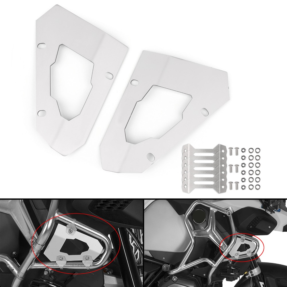 Areyourshop Motorcycle Cylinder Guards Upper Crash Bar Trim Plate For BMW R1200GS Adventure LC 2013-2017 Aluminum Motor Cover areyourshop motorcycle cylinder guards upper crash bar trim plate for bmw r1200gs adventure lc 2013 2017 aluminum motor cover