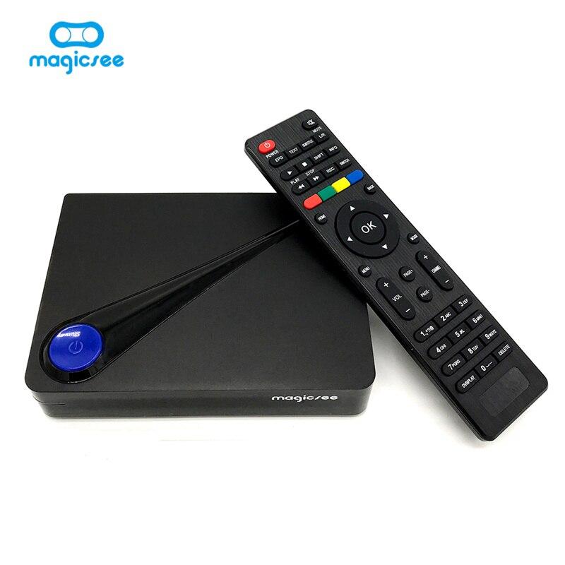 Magicsee C300 Amlogic S905D 2GB RAM 16GB ROM DVB-T/T2 DVB-S/S2 TV Box Bluetooth 4.1 H.265 HEVC Android Set-top Box Mini PC mecool kii pro tv box dvb t2 dvb t2 s2 amlogic s905 quad core 2gb 16gb android 5 1 tv box bluetooth 2 4g 5g wifi set top box