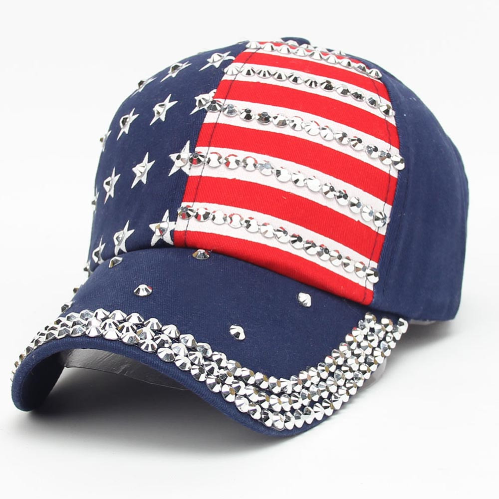 Women Men American Flag Baseball Cap Snapback Hip Hop Flat Hat(China)
