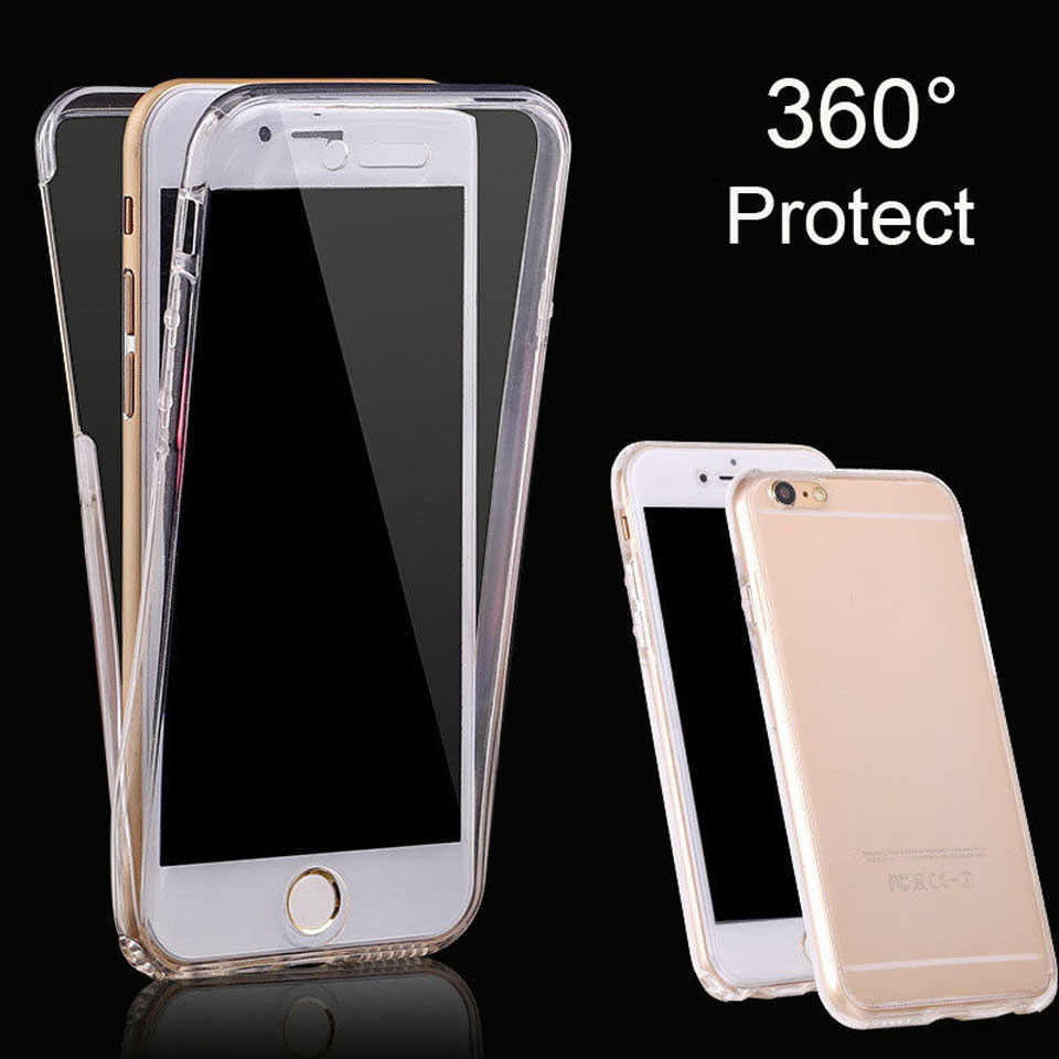 360 Degree Front + Back TPU Cover For Iphone 7 SE 5 5s 6 6s 8 X Plus XiaoMi 5X A1 RedMi 4A Note 4X 5 5A Silicone Phone Cases