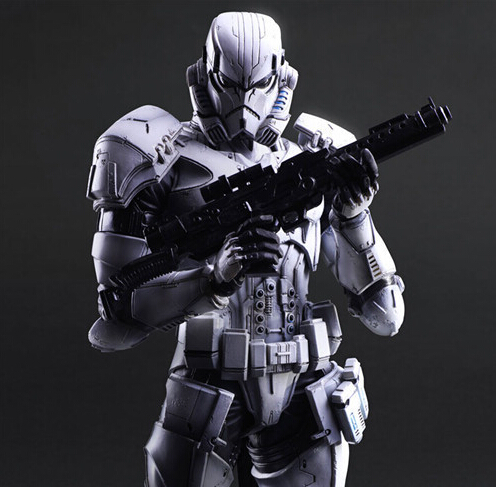Star Wars Action Figure Play Arts Kai Imperial Stormtrooper Collection Model Toy PLAY ARTS Star Wars Stormtrooper Playarts Doll fashion women silver wedding pearls hairpins crystal vine bridal head wear hair accessories diamond headpiece