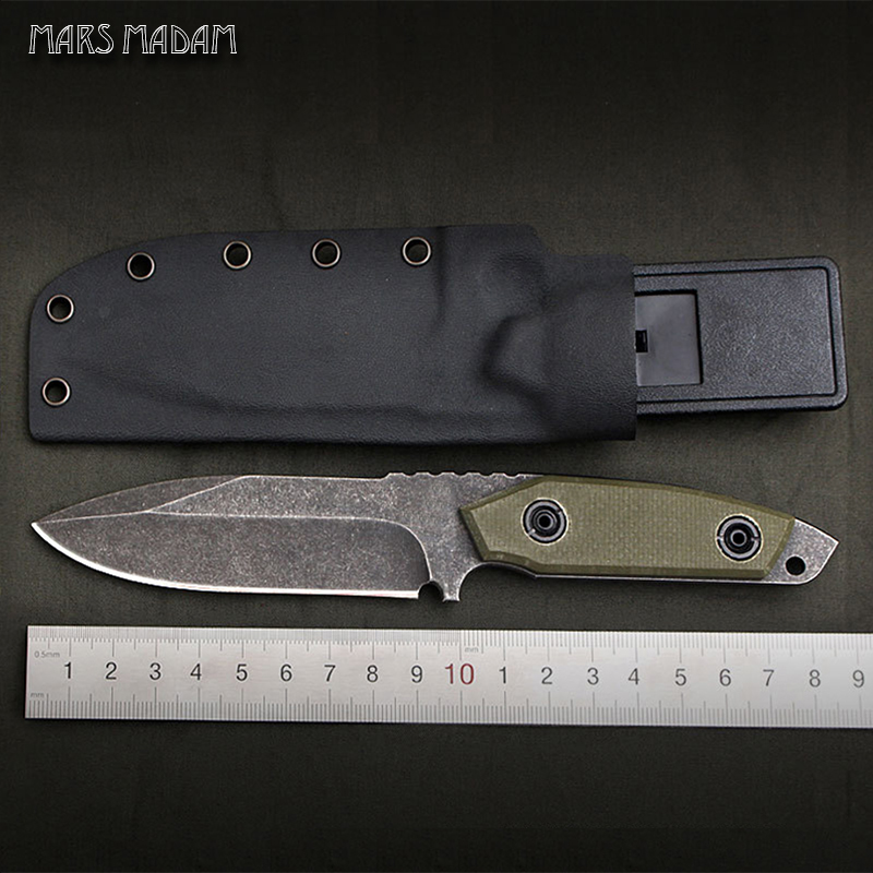High hardness D2 steel Sharpest Tactical Survival Knives Leather Sheaths Outdoors Camping EDC Rescue Tools цены