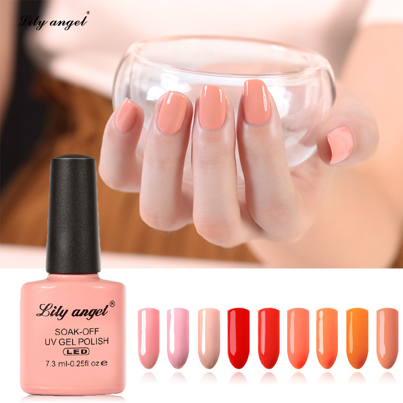 Lily Angel 108 Colors Luxury Soak Off UV Nail Gel Polish Nail Art Cure Gel Lakk Professional Pure Gel Polish 001 - 024