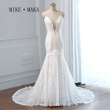 Luxury Beaded Crystal Lace Long Dress Bride Marriage Sparkly China Bridal Gowns Fast Shipping Mermaid Wedding Dresses 2015