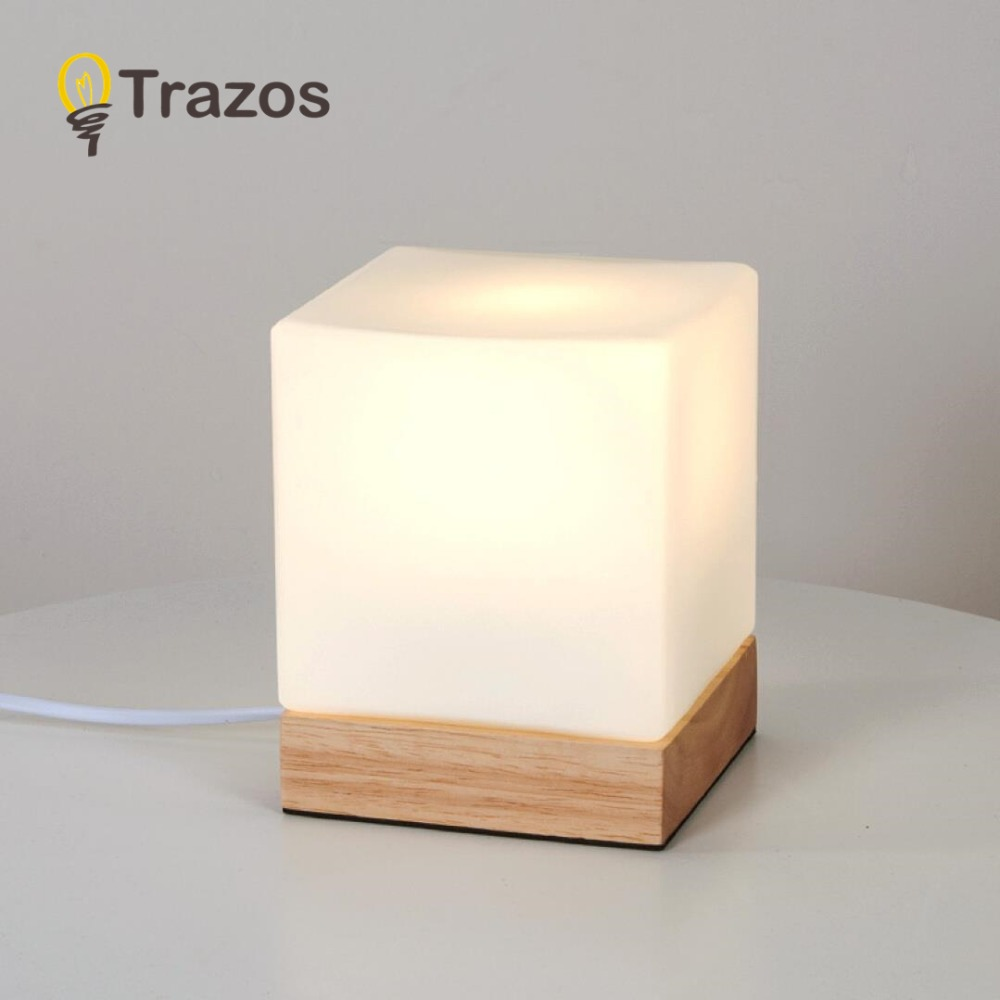 TRAZOS Grass Table Lamp Wooden Bedside Desk lights Table Lamps For Bedroom E27 Book Lamps Room Lighting Fixture LED Luminaria