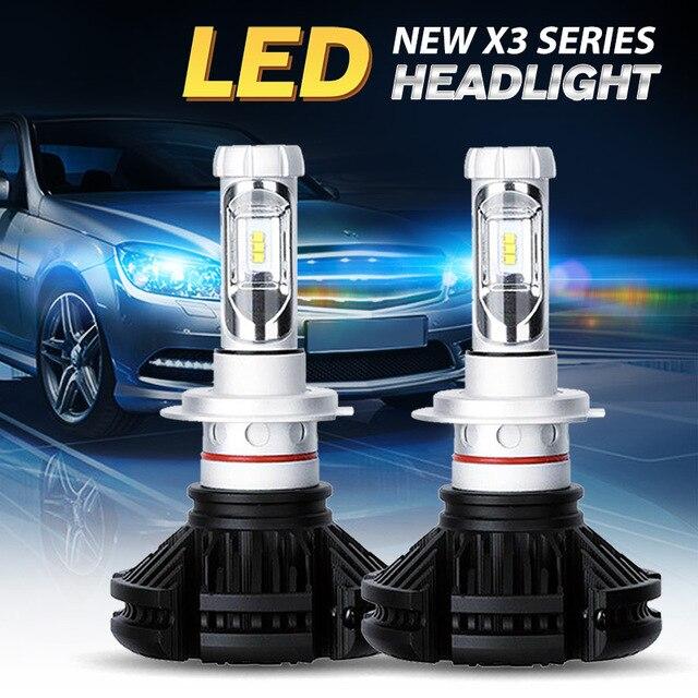 Oslamp CREE CSP Chips H13 H4 LED Headlight Kits Automobile 9005 9006 Car Bulbs Fan-less H7 H11 Fog Lamps 3000K 6500K X3 Series