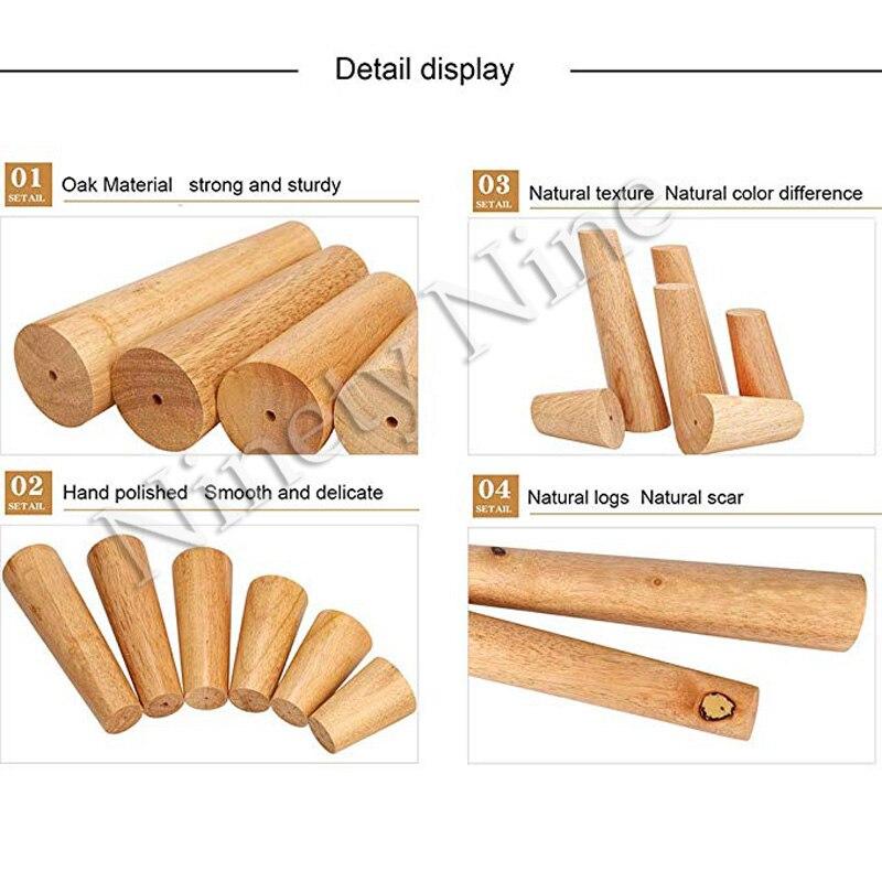 Image 4 - 4 Uds. De alto 6/8/10/12/15/18/20/25/30cm patas de muebles patas de apoyo sofá cama de madera maciza/mueble de Tv/MESA de café-in Patas del mueble from Muebles on AliExpress