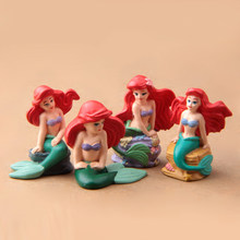 Mermaid Princess Ariel Action Figure Cute DIY Resin Craft Mermaid Ariel Action Figures Toys Model Toy for Gardening Oranments(China)