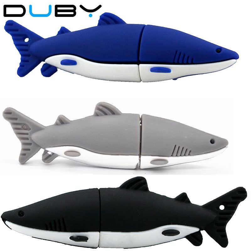 Unidad de memoria USB, unidad Flash USB de 8GB de silicona con forma de tiburón, memoria USB 2,0, unidad flash en U, tarjeta Flash 16-518