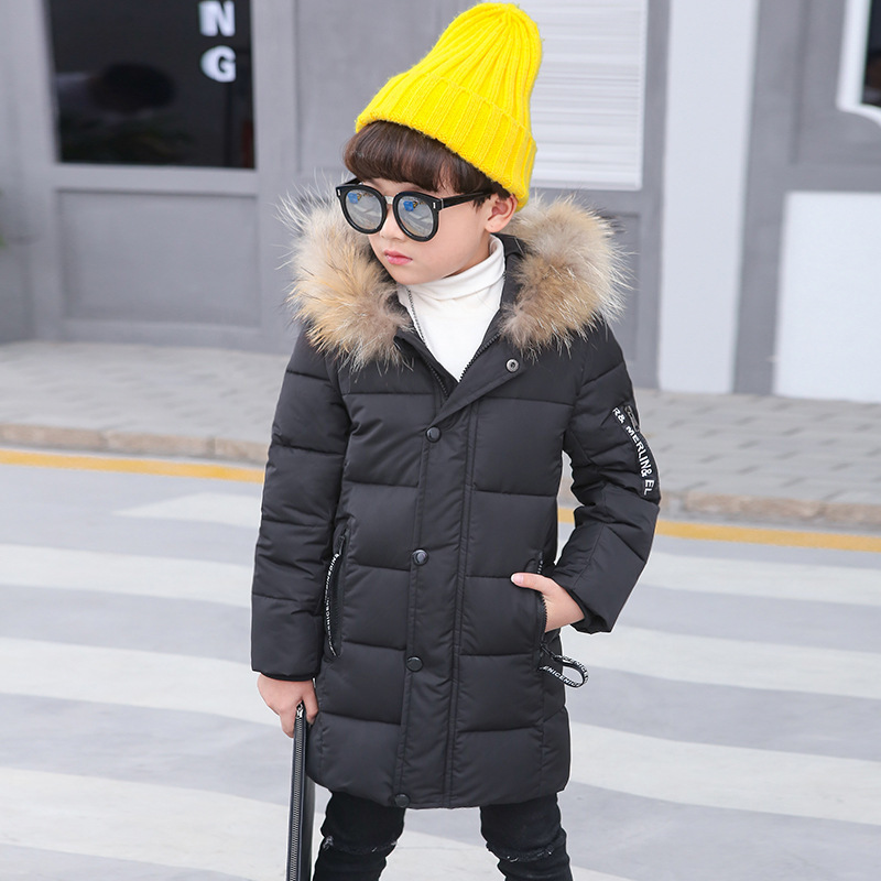 2018 new thickened children's clothing boys and girls winter models long cotton jacket cotton jacket fashion coats Parkas MF-15 in the winter of 2015 the new cotton jacket mixed male clothing winter cotton thickened 5 color free delivery