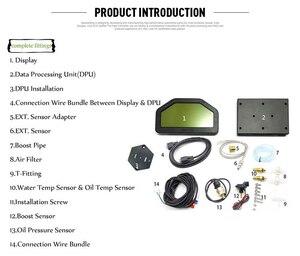 Image 5 - 9 in 1 Rally Car Race Dash Dashboard LCD Digital Display Gauge Waterproof Car Meter Full Sensor Kit Tachometer DO908