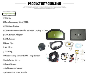 Image 5 - 9 trong 1 Cuộc Biểu Tình Đua Ô Tô Dash Bảng Điều Khiển MÀN HÌNH LCD Màn Hình Hiển Thị Kỹ Thuật Số Ga Chống Thấm Xe Đo Toàn Bộ Bộ Cảm Biến Đo Tốc Độ DO908