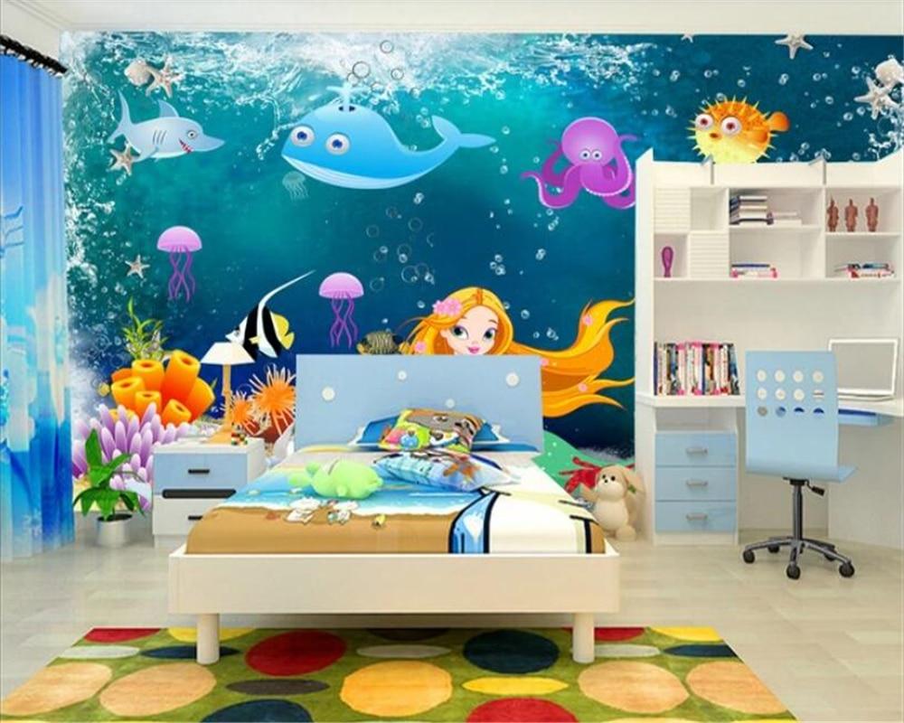 Beibehang Vinyl Wall Papier Peint Mural 3d Custom Hd Underwater