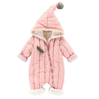 Newborn Baby Girls Clothes Infant Bebe Boys Thicken Warm Hooded Rompers Winter Fashion Outwear Snowsuit Jumpsuit Clothing 0 24M