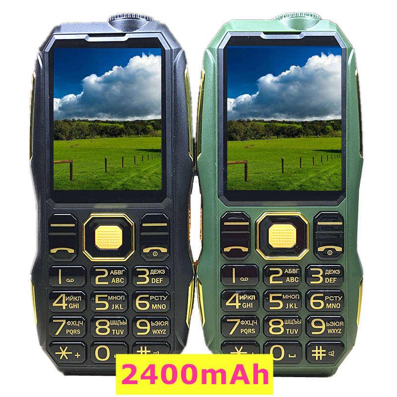real 2400 mah power bank mobile phone 2.4 screen FM flashlight mp3 Rugged phones Russian keyboard Dual SIM Card X5 cell phone
