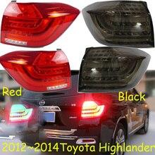 2012 ~ 2014y Auto Bumper Achterlicht Voor Highlander Achterlicht Led Auto Accessoires Achterlicht Voor Highlander Achterlicht Fog