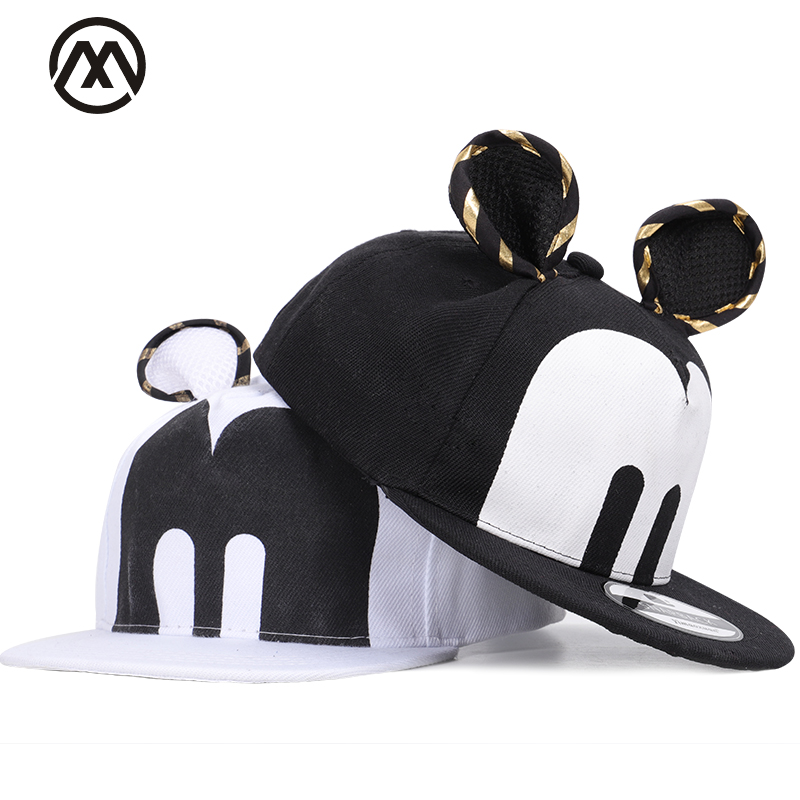 Children Mickey Hip Hop Hats Boy Girl Universal Adjustable High Quality Outdoor Shade Cute Cartoon Summer Caps Streetwear Bone Boy's Accessories Apparel Accessories