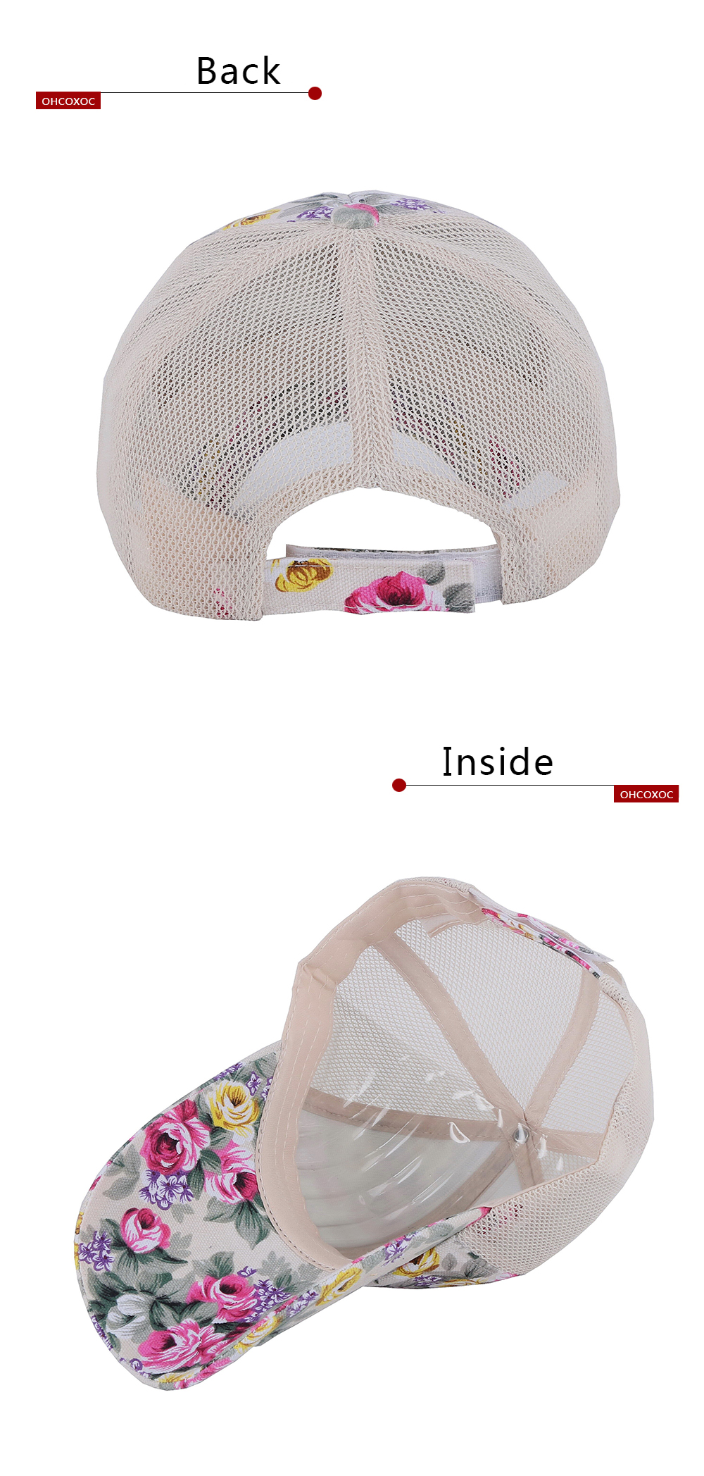 91777df800b5a0 Women New Summer Hat Casual Floral Cap Cotton With Linen Print ...