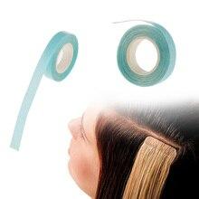 1 шт. 1 см* 3 м двухсторонняя клейкая лента для наращивания волос из уток кожи ленты-высокое качество супер клейкая лента