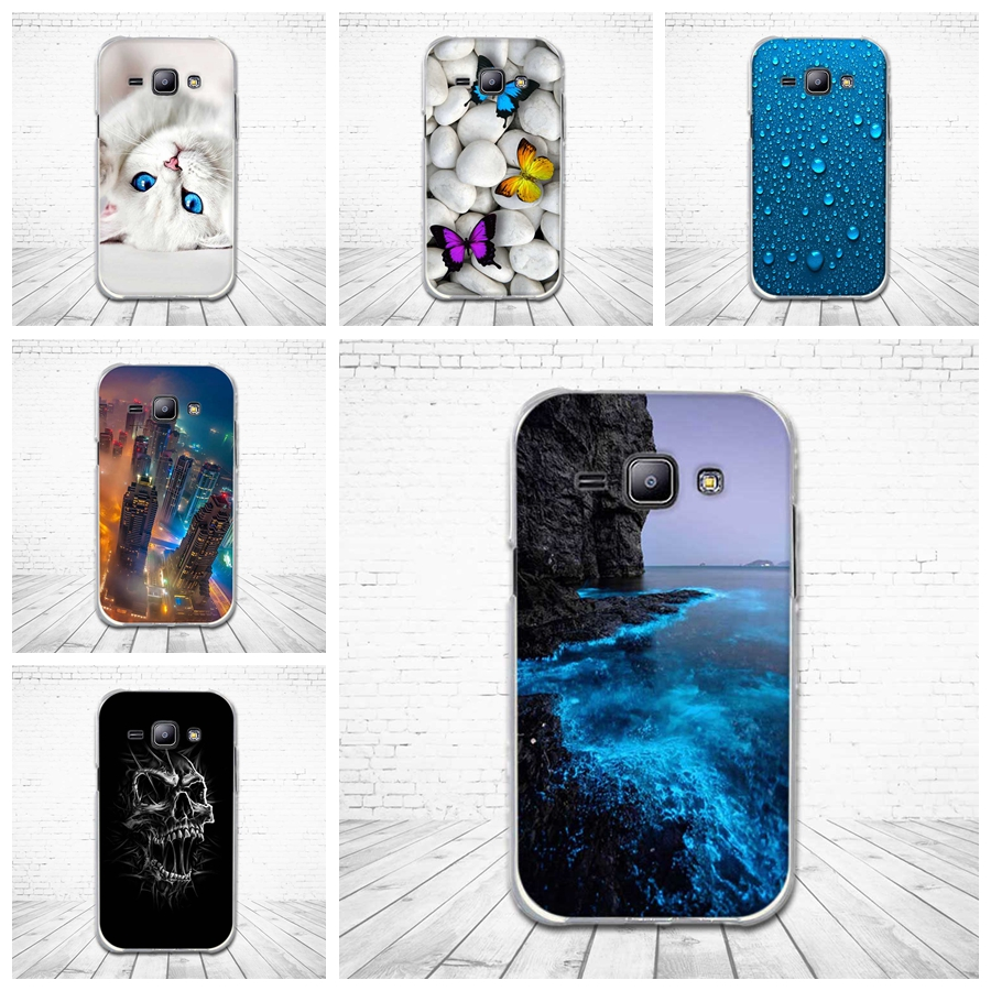 3D Relief Printing Soft TPU Case For Samsung Galaxy J1 J100 <font><b>J100H</b></font> J100F Silicone Case For Galaxy J1 2015 Back Cover Bags image