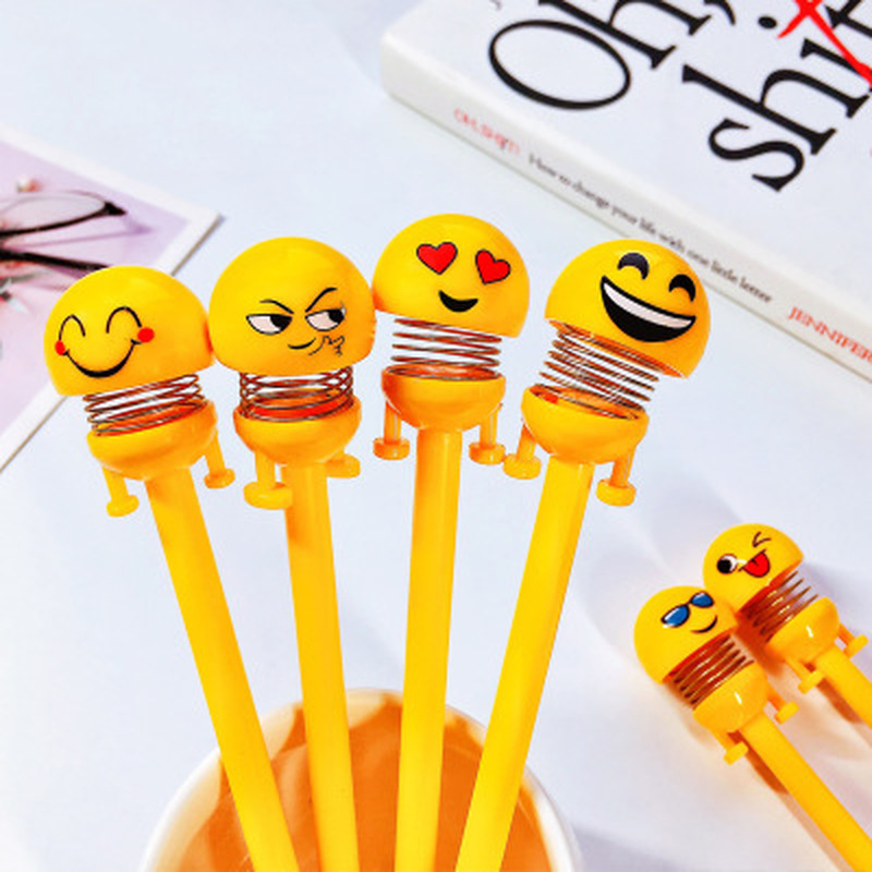 1pcs Expression Gel Pen 0.5 Mm Cute Spring Pens Novelty Stationery Kawaii Pens Student Black Writing Pen Kawaii School Supplies