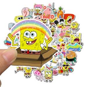 Image 5 - Наклейки SpongeBob для мотоцикла, ноутбука, чемодана, велосипеда, скейтборда, 50 шт./упак.