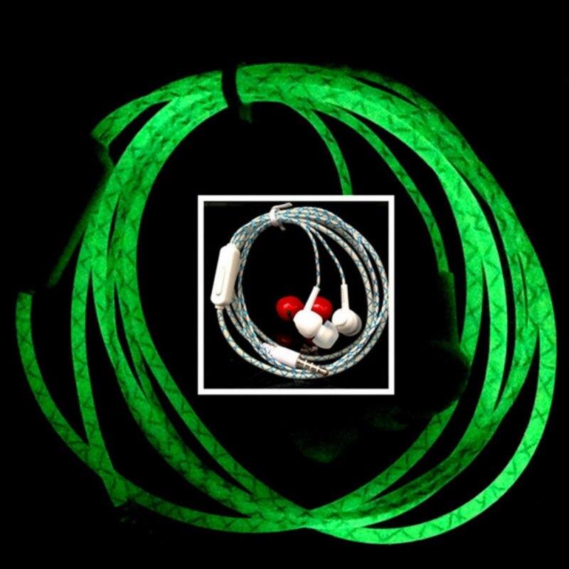 Glow In The Dark Cool Led Earphone Luminous Neon With
