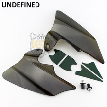 Motorcycle Smoke Reflective Saddle Shield Air Heat Deflector For Harley Touring Road King Electra Glide 1997  2007 UNDEFINED