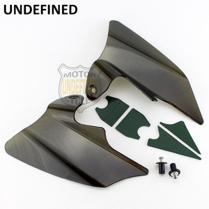 Image 1 - Motorcycle Smoke Reflective Saddle Shield Air Heat Deflector For Harley Touring Road King Electra Glide 1997  2007 UNDEFINED