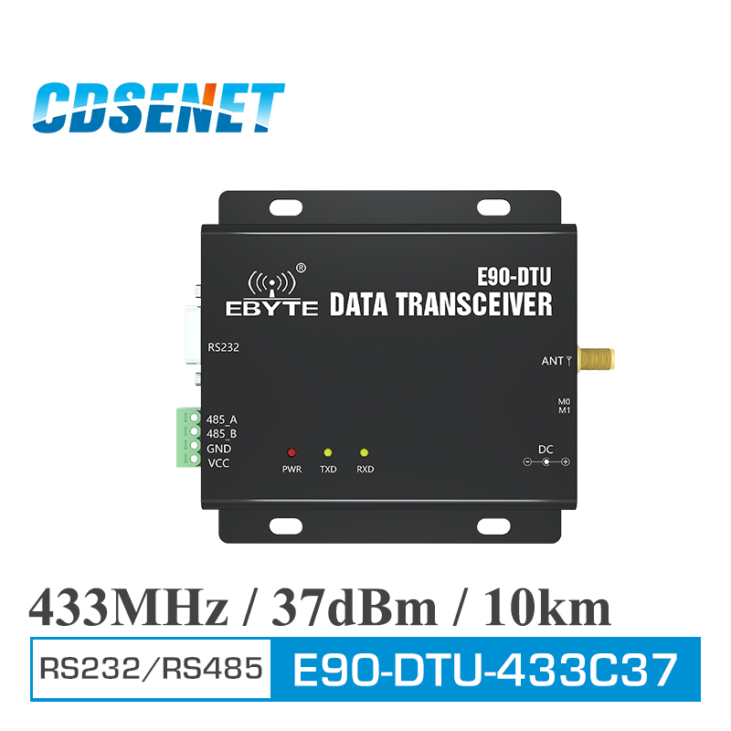 E90 DTU 433C37 Wireless Transceiver RS232 RS485 Modbus 433MHz 5W Long Range 10km PLC Transceiver and