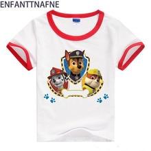 2017 baby cartoon hond t-shirt jongens kleding voor meisje korte mouw katoen jongens t-shirt kids kinderen zomer meisje tee tops