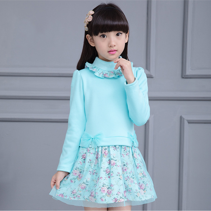 Primavera 2018 Kids Baby Girls Floral Dress Little Girl Princess Dress Otoño Verano Invierno Vestidos Para 2 3456789 10 11 12 Años