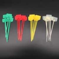 40 stücke Self-Locking Nylon Kunststoff Kabel Zip Krawatten Label Netzwerk Trim Wrap Loop Kabelbinder Draht Riemen 3 x 120mm Zip Draht Wrap