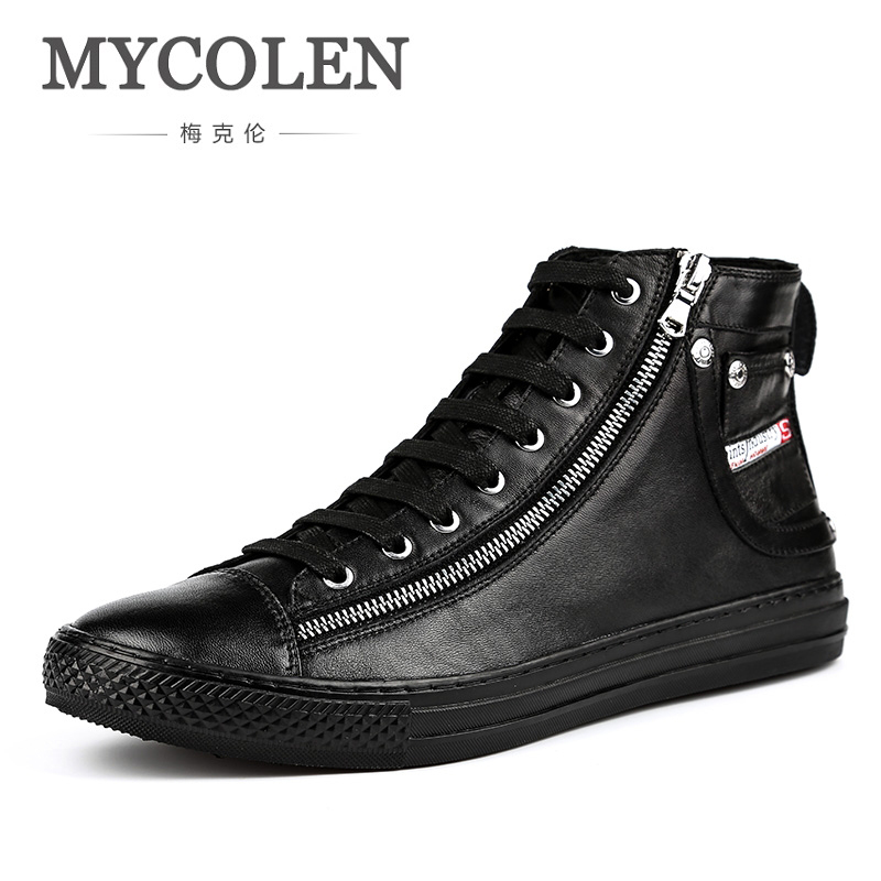 MYCOLEN Men Boots Genuine Leather Fashion Classic Business Office Ankle Boots Men Shoes Male Casual Handmade Male Boots high quality 2018 fashion classic luxury men boots genuine leather casual black ankle boots for men male shoes business booties