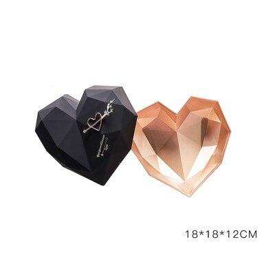 1 шт. роскошные подарочные коробки в форме сердца, упаковочная коробка для цветов, держатель цветочных букетов, цветочные коробки, портативные держатели для цветов и роз - Цвет: 18x18x12cm